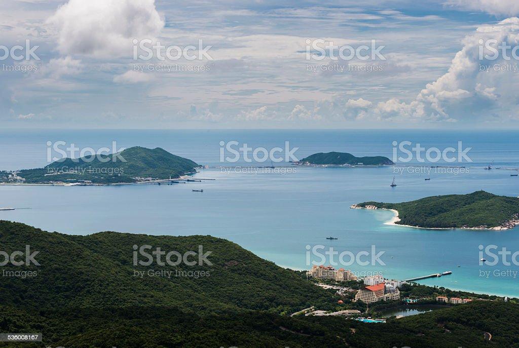 sanya landscape stock photo