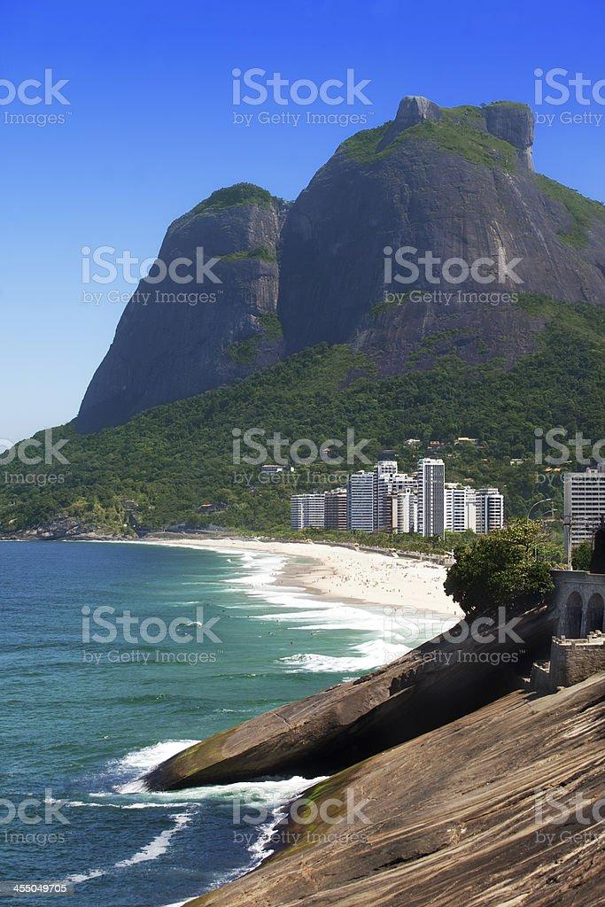 Sao Conrado Beach in Rio de Janeiro stock photo