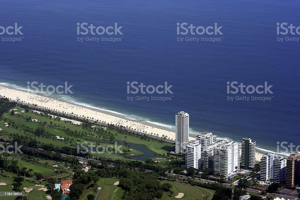Sao Conrado district in Rio de Janeiro royalty-free stock photo