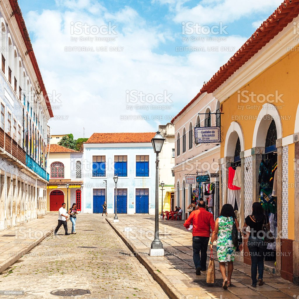 Sao Luis, Brazil. stock photo