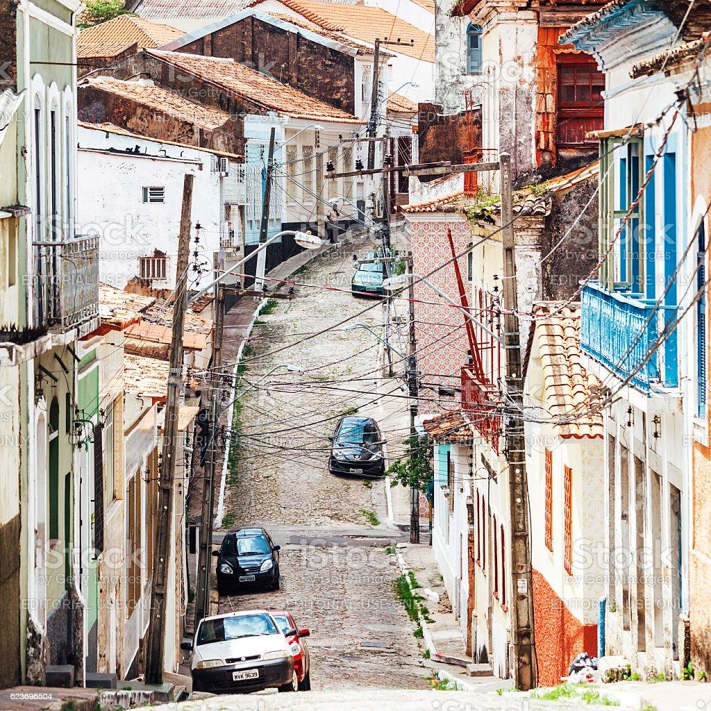 Sao Luis - Brazilian town. stock photo