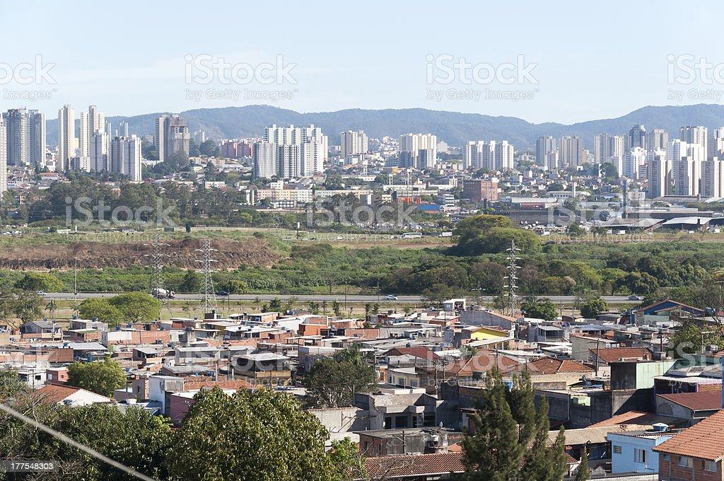 Sao Paulo and Guarulhos, Brazil royalty-free stock photo
