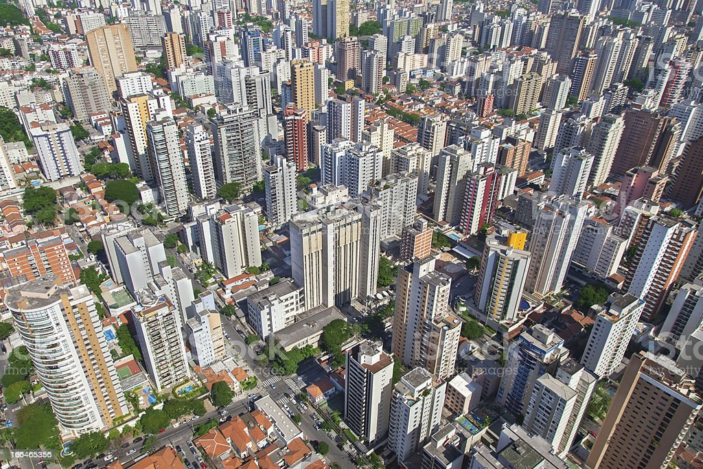 Sao Paulo city stock photo