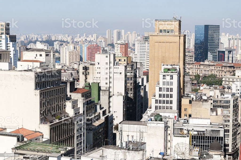 sao paulo city royalty-free stock photo