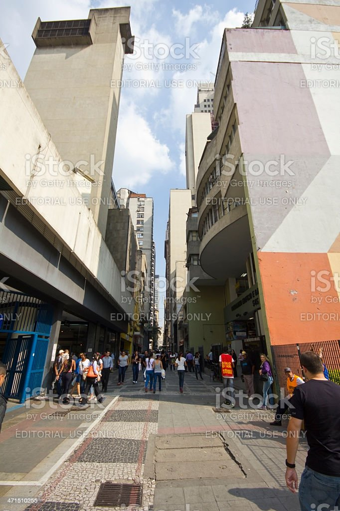 Sao Paulo city's old downtown royalty-free stock photo