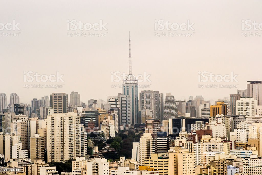 Sao Paulo downtow stock photo