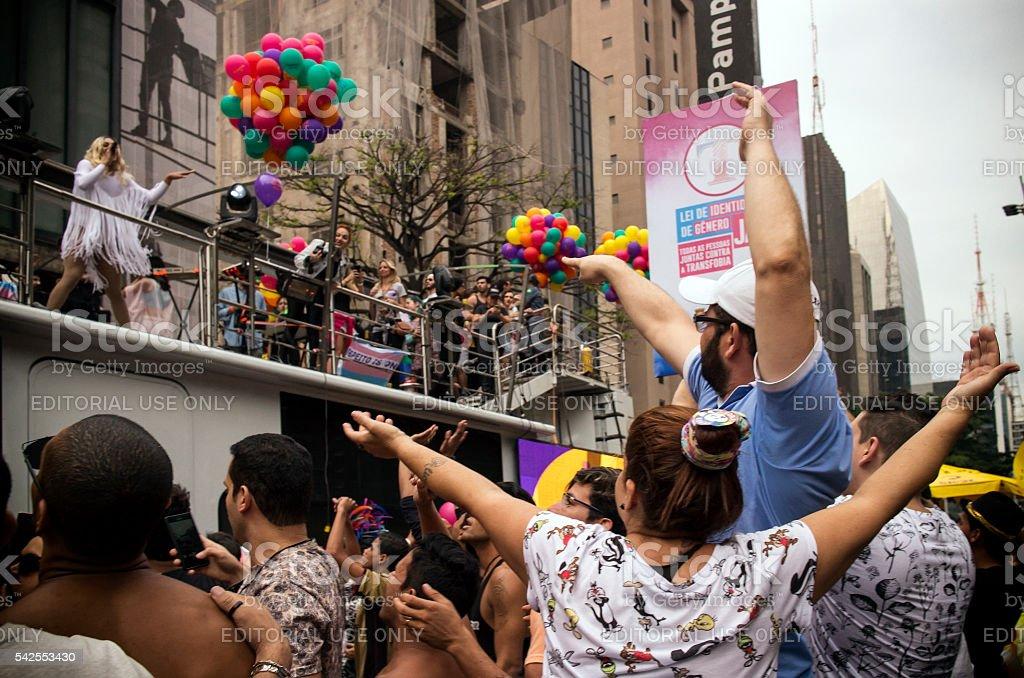 Sao Paulo Gay Pride Parade stock photo