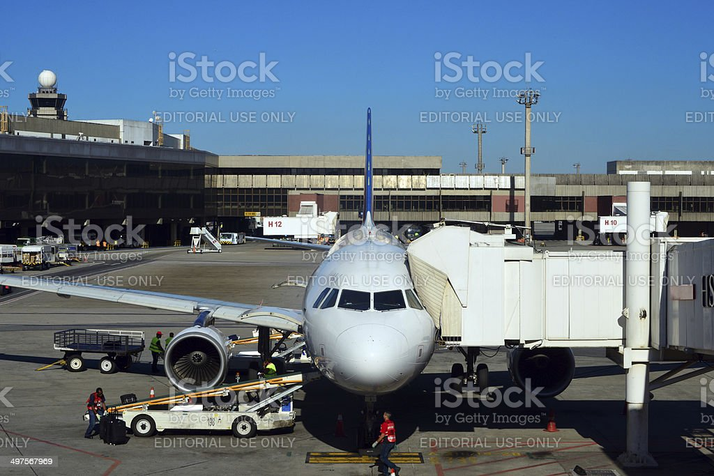 S?o Paulo Guarulhos airport operations stock photo