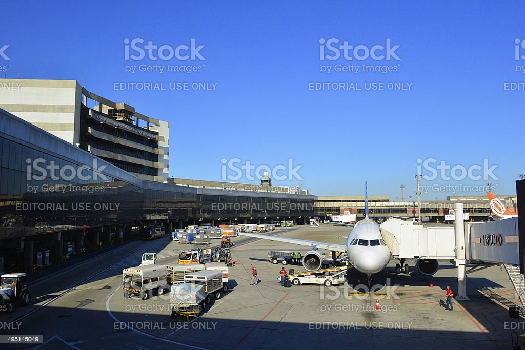 S?o Paulo Guarulhos airport stock photo