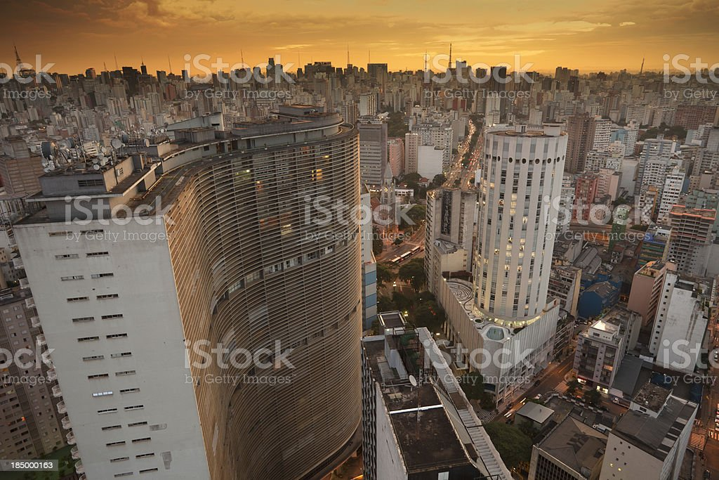 Sao Paulo in the afternoon stock photo