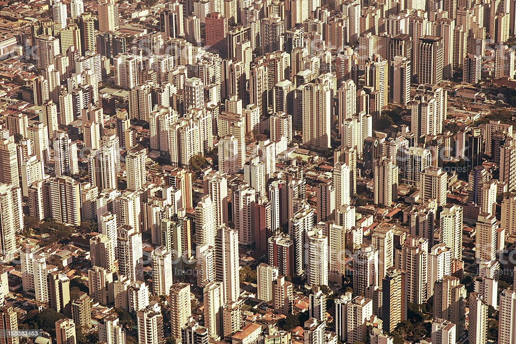 Sao Paulo large city stock photo