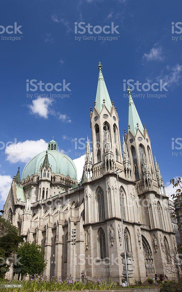 Sao Paulo Metropolitan Cathedral royalty-free stock photo