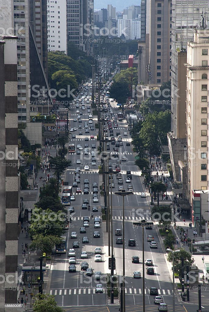 Sao Paulo Paulista Avenue stock photo