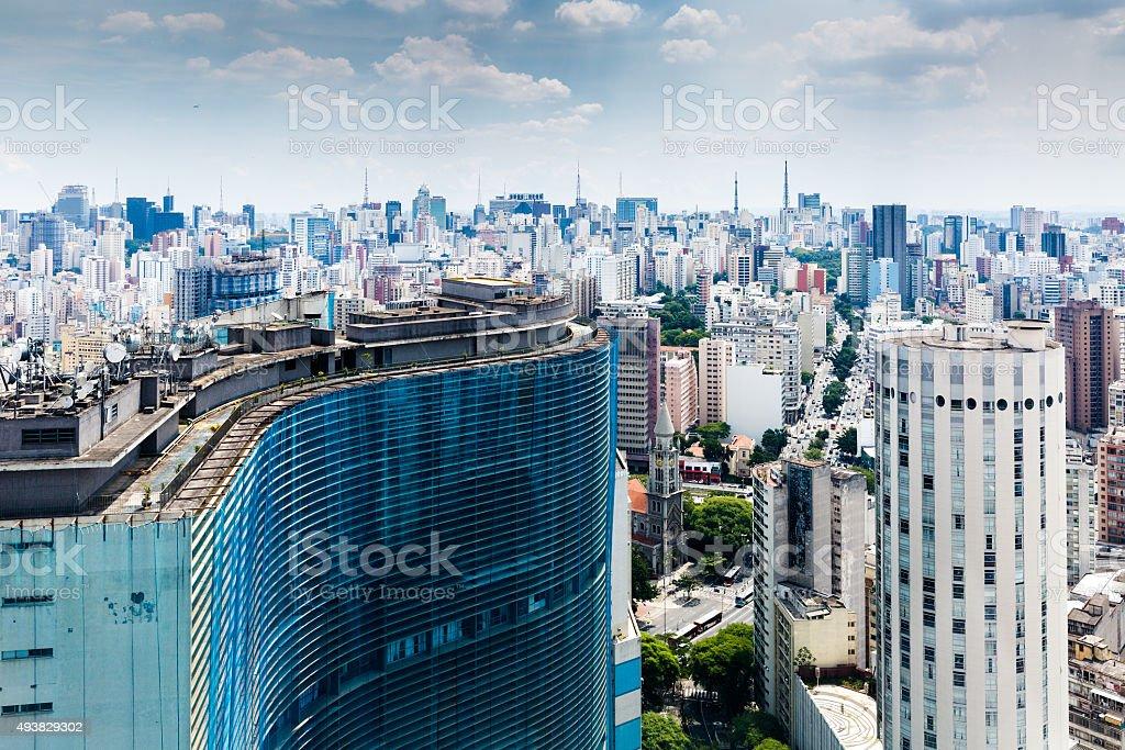 Sao Paulo skyline, Brazil stock photo