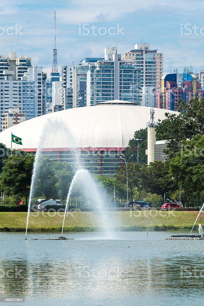 Sao Paulo skyline in Brazil stock photo