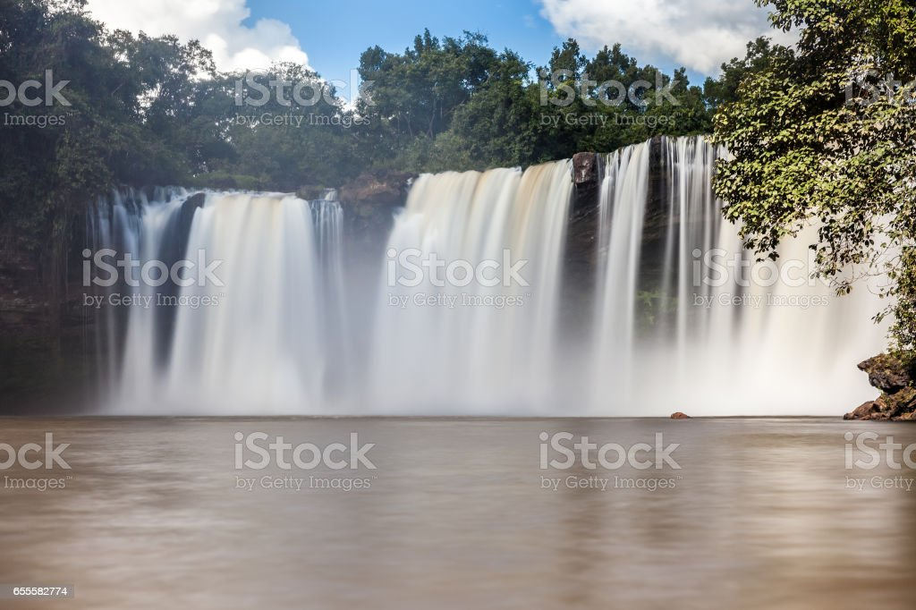Sao Romao Waterfall - Carolina, Maranhao, Brazil stock photo