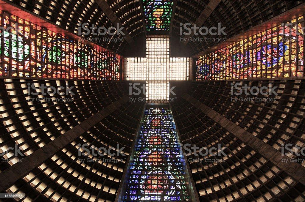 Sao Sebastiao Metropolitan Cathedral royalty-free stock photo