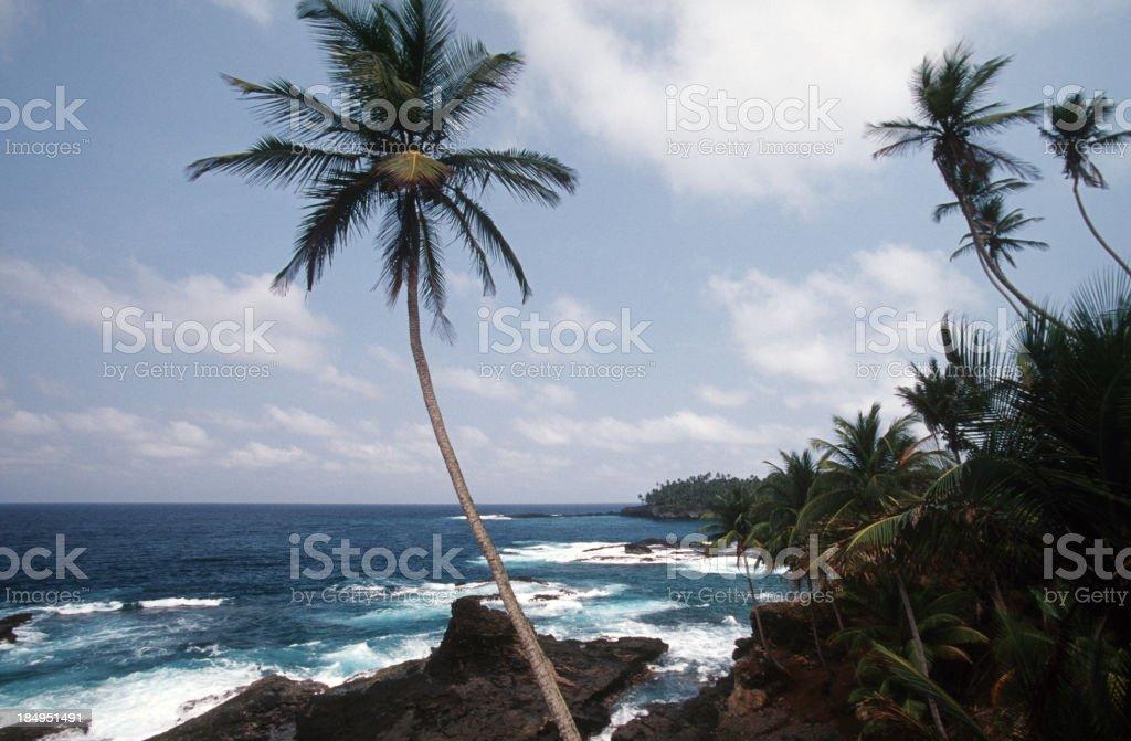Sao Tome and Principe,  coastline. stock photo