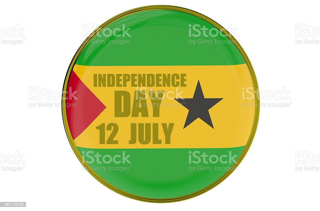 Sao Tome and Principe Independence Day, concept stock photo