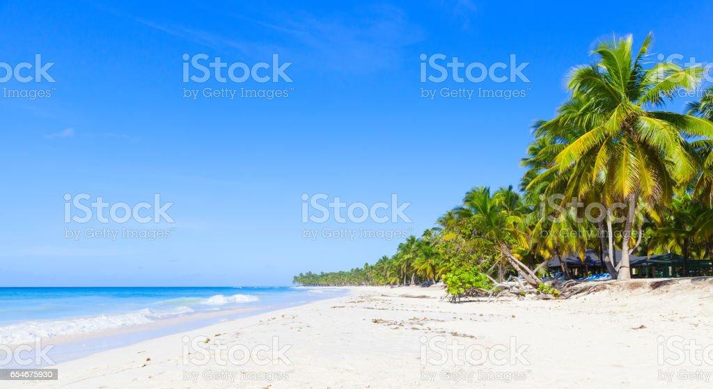 Saona island coast, panoramic photo stock photo