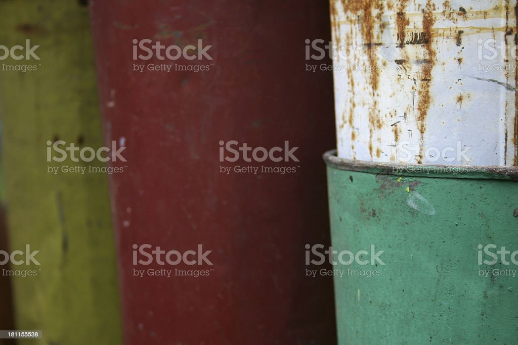 Sap Buckets Horizontal royalty-free stock photo