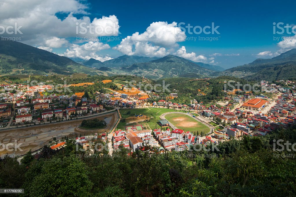Sa Pa City. Lao Cai, Viet Nam. stock photo