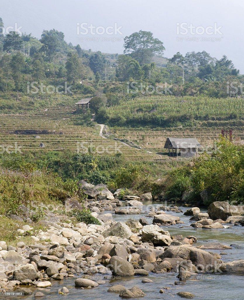 Sapa Countryside, Vietnam royalty-free stock photo