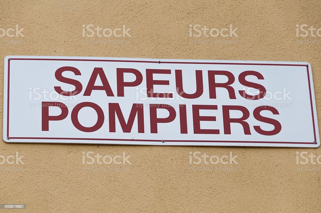 Sapeurs pompiers stock photo