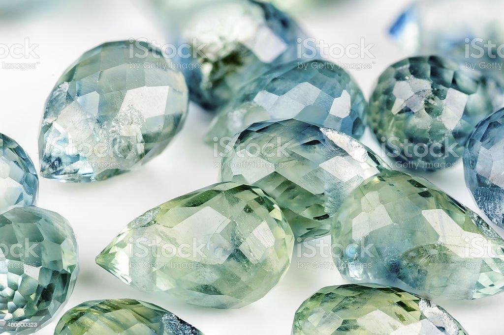 Sapphire briolettes stock photo