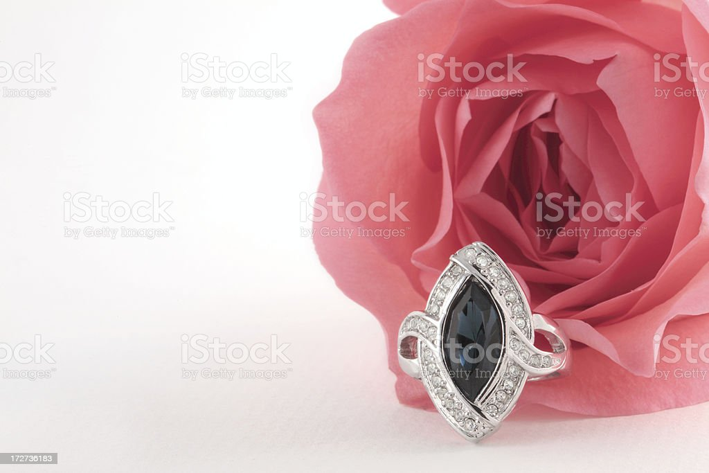 Sapphire Diamond Ring royalty-free stock photo