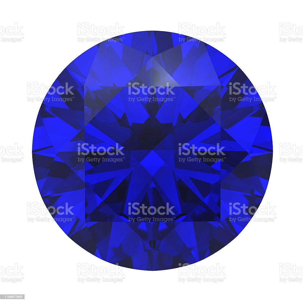 Sapphire gemstone royalty-free stock photo