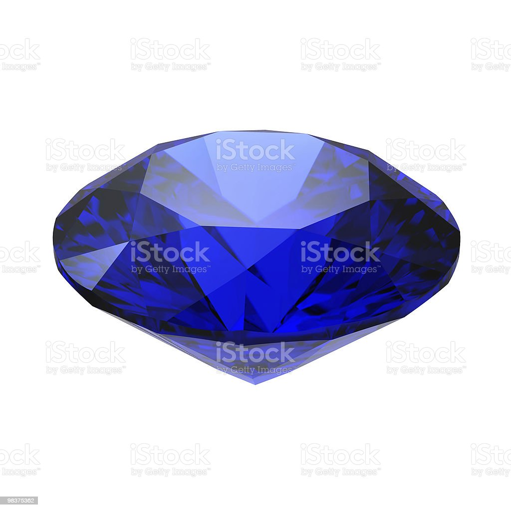 Sapphire gemstone royalty-free stock photo