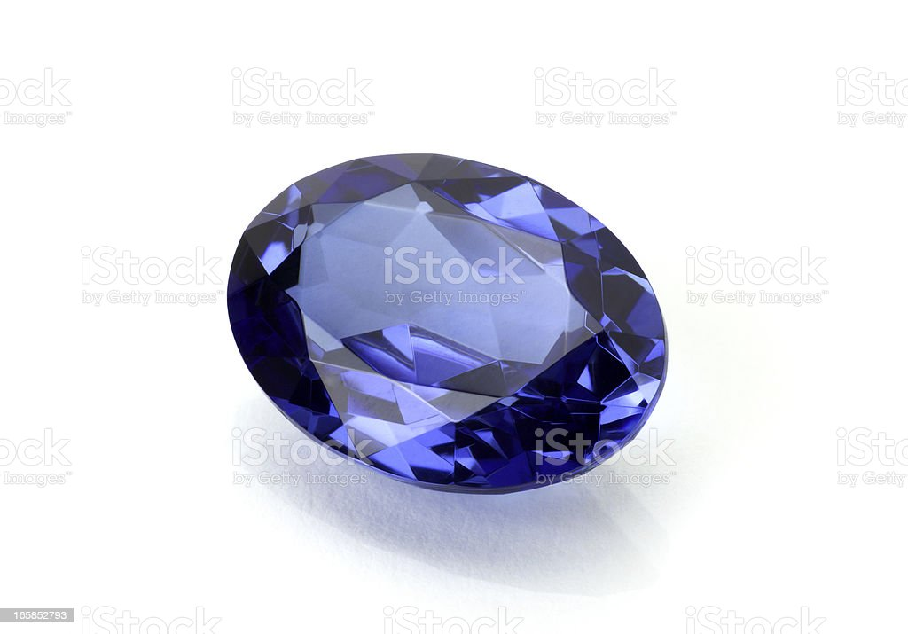 Sapphire or Tanzanite royalty-free stock photo