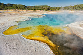Sapphire Pool, Biscuit Basin, Yellowstone National Park, USA