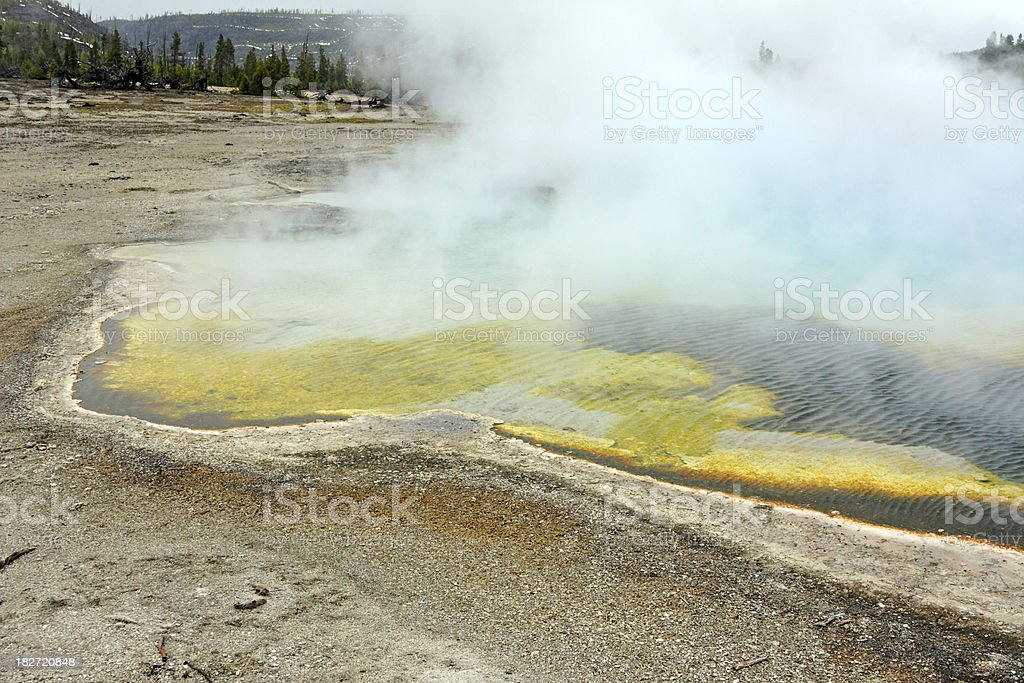 Sapphire Pool In Yellowstone stock photo
