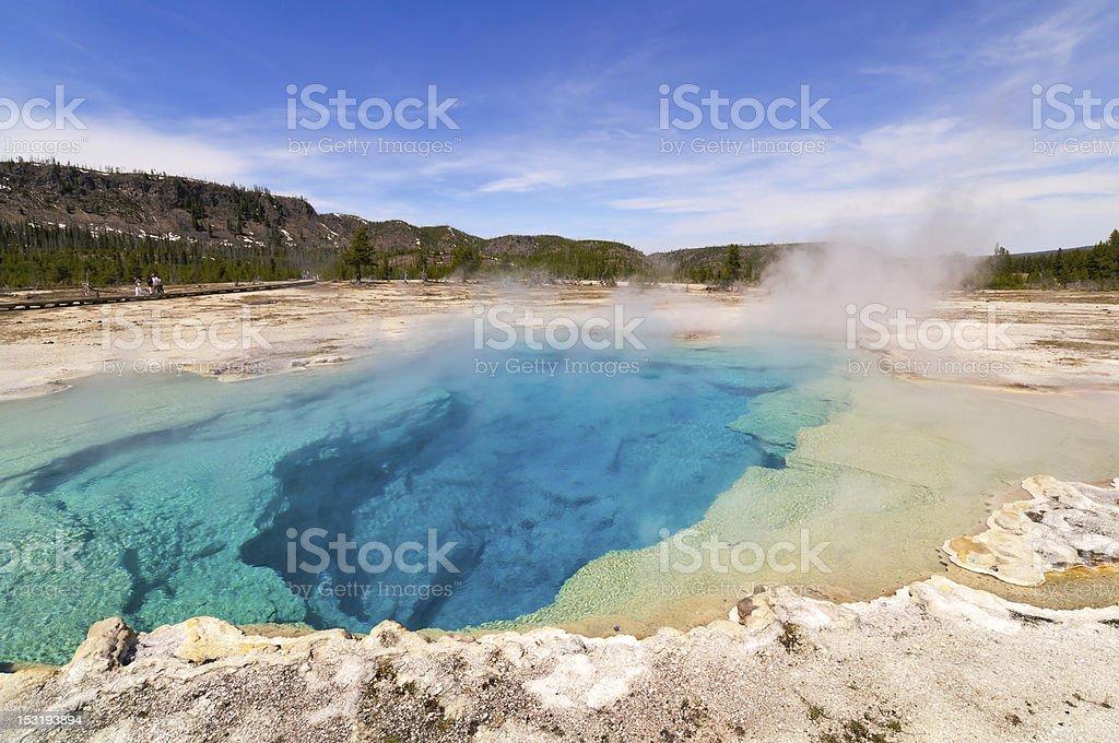 Sapphire Pool , Yellow Stone National Park stock photo