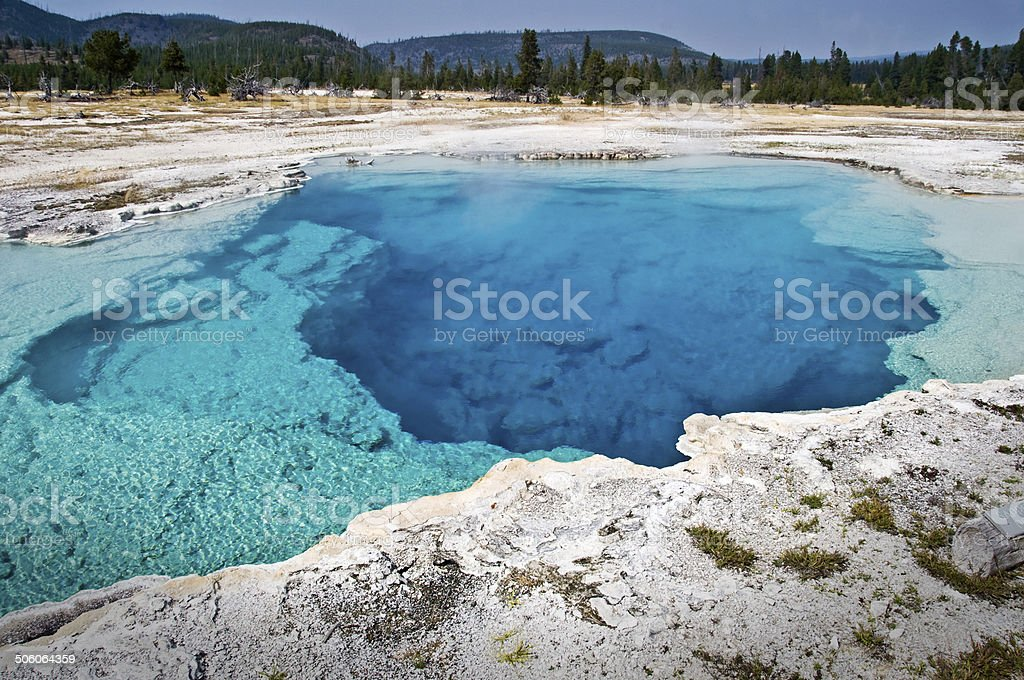 Sapphire pool, Yellowstone National Park, USA stock photo