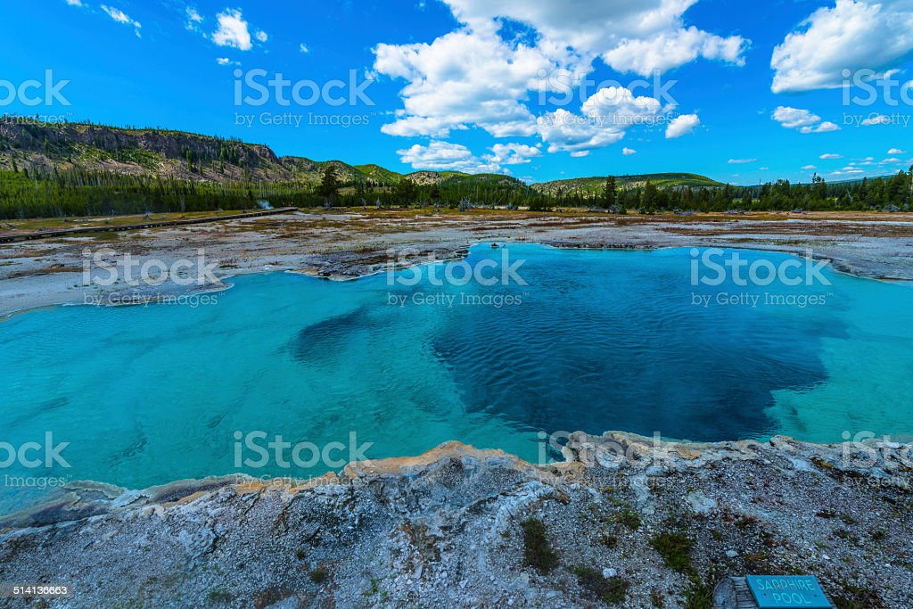 Sapphire Pool Yellowstone stock photo