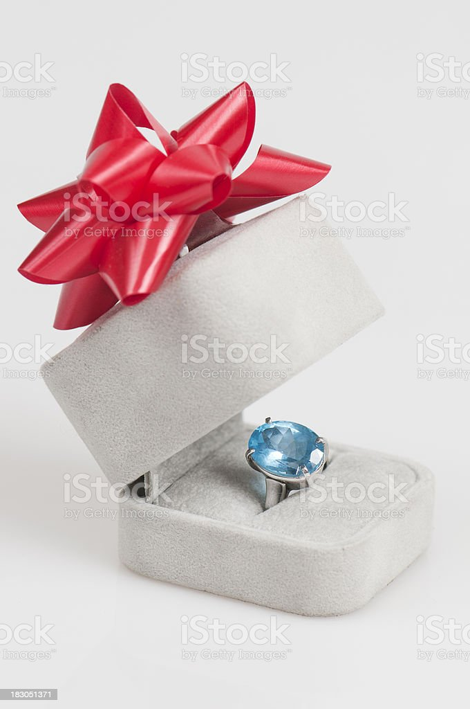 Sapphire ring vertical royalty-free stock photo