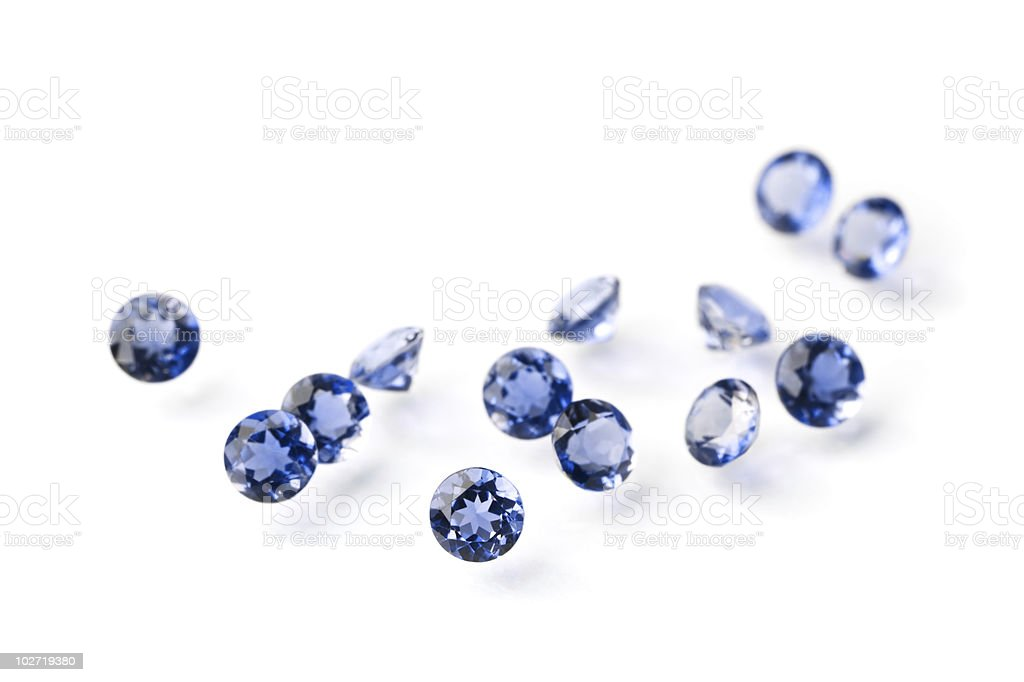 Sapphires royalty-free stock photo