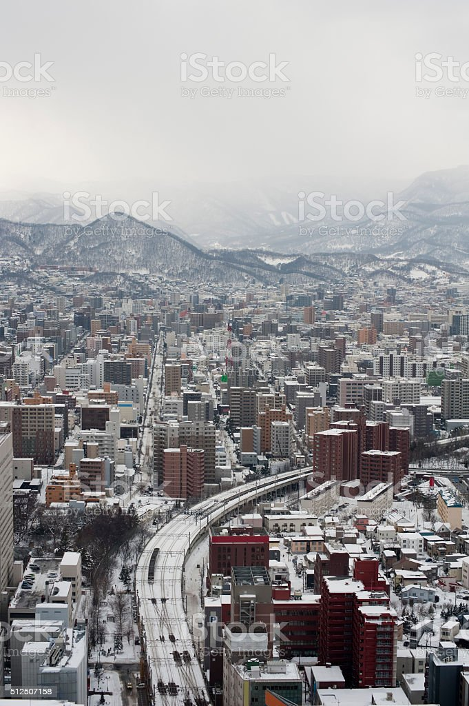 Sapporo city in Japan stock photo