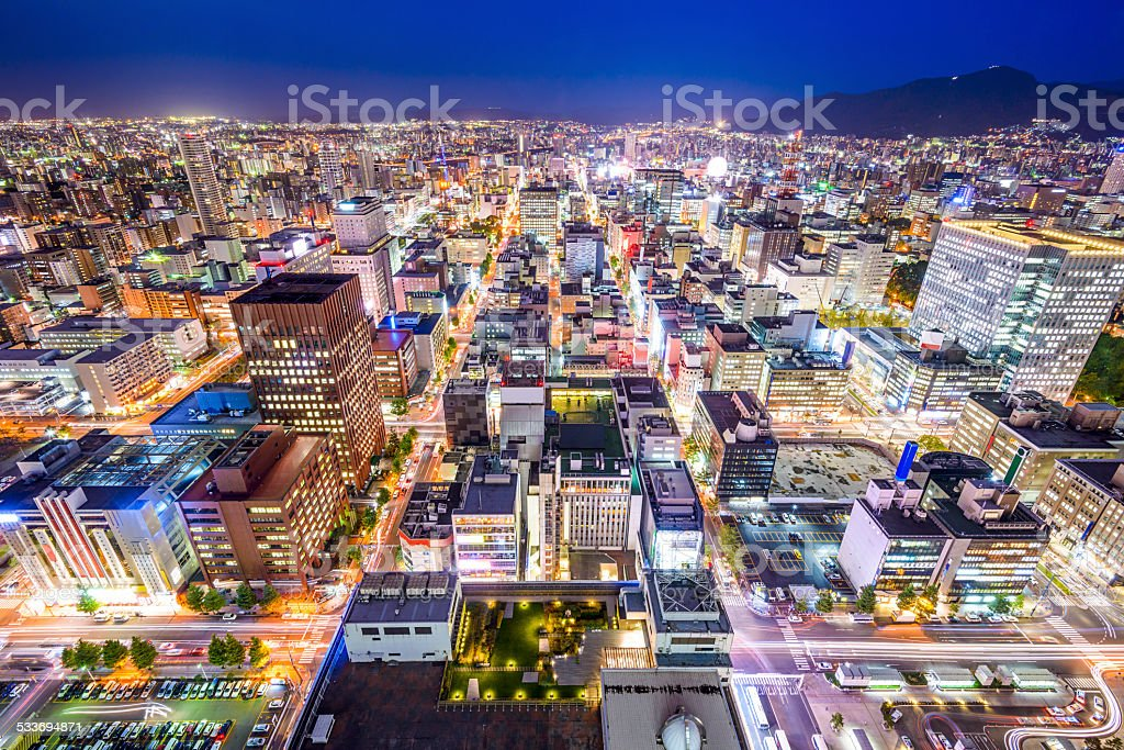Sapporo, Japan Cityscape stock photo