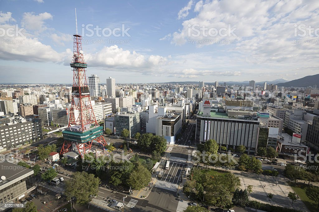 Sapporo Skyline in Japan stock photo