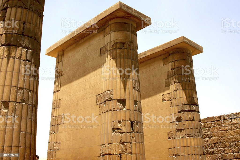 Saqqara Pyramid Djoser Mortuary Temple stock photo