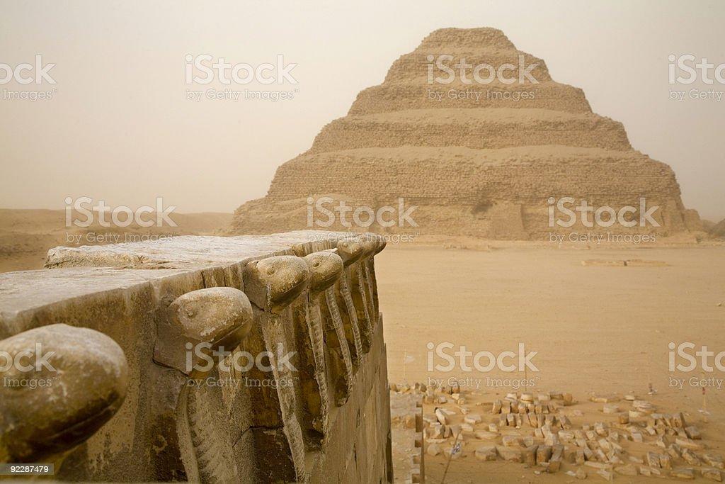 Saqqara pyramid stock photo