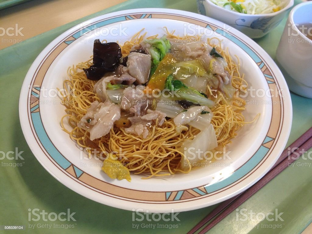 Sara udon (皿うどん) stock photo
