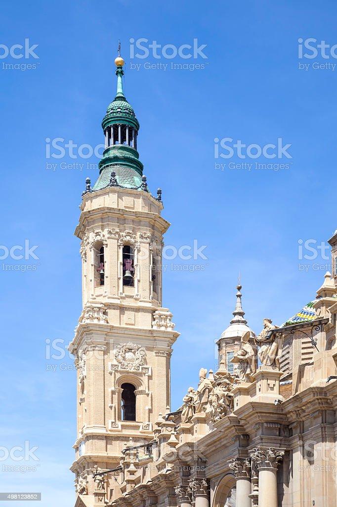 Saragossa. Cathedral Mother of God Pillar stock photo
