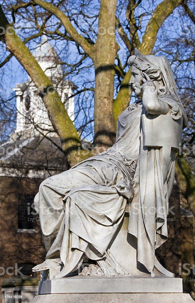 Sarah Siddons Statue on Paddington Green stock photo