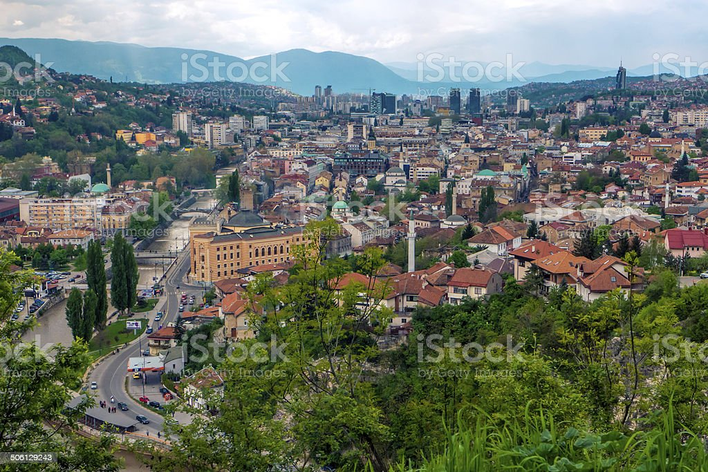 Sarajevo, capital da Bósnia e Herzegovina foto royalty-free