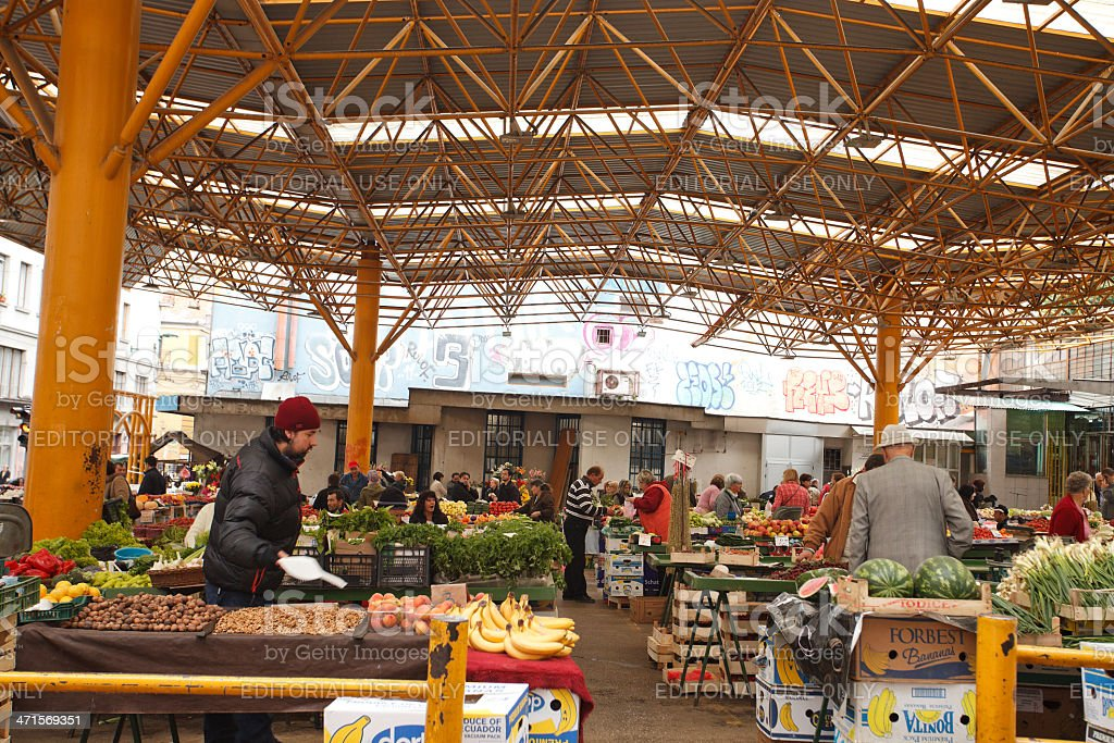 Sarajevo Central Market royalty-free stock photo